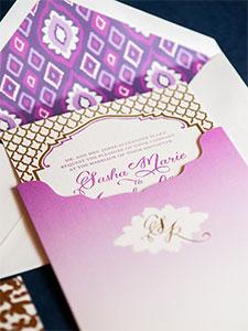 Engraved Wedding Invitation